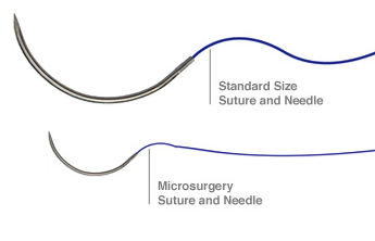 Suture used in microsurgery